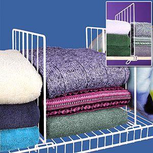 Solid Wood Shelf Dividers Closet Set of 4 25595 B