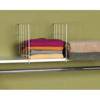 Household Essentials White Set of Two Shelf Dividers