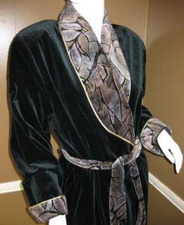 Diamond Tea Long Velvet Bath Robe Dressing Gown M