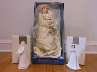 Royal Doulton Princess Diana Porcelain Doll Mint EXTRAS