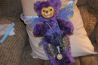 RAIKES MIDSUMMERS NIGHT DREAM FAIRY BEAR 2 Tone Purple Mohair 18 tall