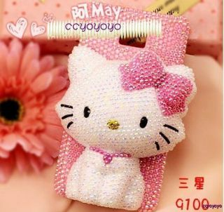 Hello Kitty Pearl Diamond Crystal Hard Case Cover Samsung Galaxy Note