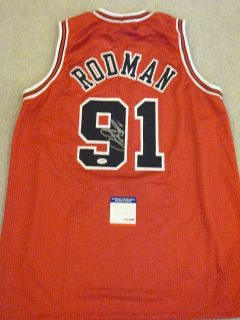 DENNIS RODMAN SIGNED AUTO CHICAGO BULLS JERSEY AAA AUTOGRAPHED