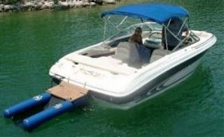 New Dog Pet Doggy Dock Floating Boat Ramp Step Platform