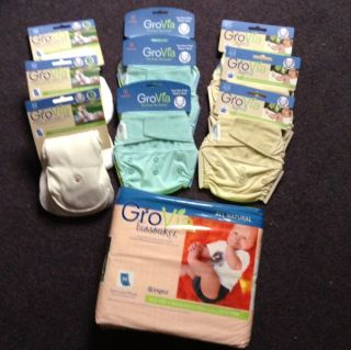 All In One Cloth Diapers Diapering Baby Kit Blue Ice Cream 6 NEW NIP