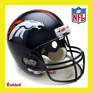 Denver Broncos NFL Deluxe Replica Full Size Football Helmet by Riddell