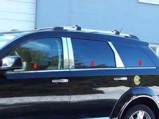 2009 2012 Dodge Journey 6pc Window Sill Stainless Steel Trim Looks
