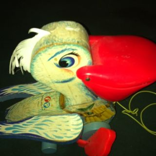 Fisher Price Vintage Pull Toy Pelican