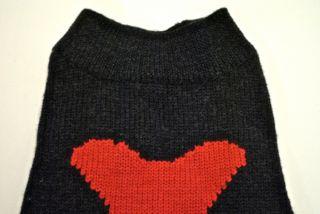 White Warren Sleeveless Wool Dog Sweater Sz M Gray Red Bone $175