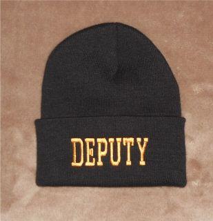 Deputy Sheriff Beanie Hat Watchcap Made in USA