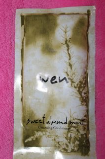 WEN by Chaz Dean SWEET ALMOND MINT Cleansing Conditioner 2oz Travel