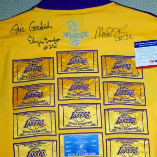Lakers MAGIC JOHNSON ELGIN BAYLOR DODY GOODMAN Autograph Lakers jacket