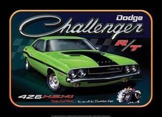 Dodge CHALLENGER RT 426 HEMI Metal Tin Sign Mopar