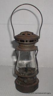 Antique Dietz Scout Skaters Kerosene Lantern Lamp Patent 1914