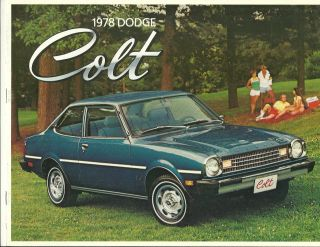Vintage 1978 Dodge Colt Color Dealers Brochure Free Shipping