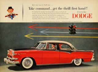 1955 Ad Dodge Custom Royal Lancer Car Antique Stoplight   ORIGINAL