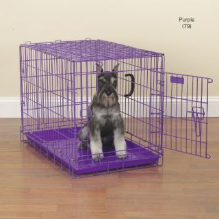 Down Dog Crates Heavy Duty Fashion Colors Puppy Crate Purple