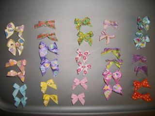 Pretty Fancy Dog Grooming Hair Bows 30 Handmade Easter Lot 2