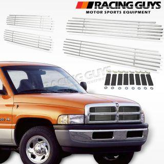 94 01 Dodge RAM 1500 2500 Front Grille Insert Set Billet Style Silver