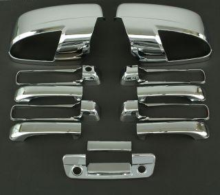2009 2011 Dodge RAM 5D Chrome Door Mirror Tailgate Handle Cover