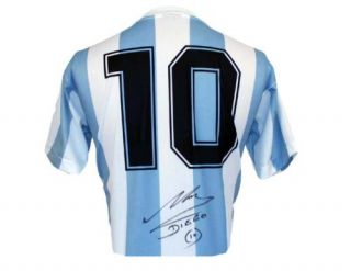 Diego MARADONA Signed WC 1986 ARG No 10 Shirt Jersey