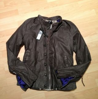 Diesel Black Gold Mens Leather Jacket Large