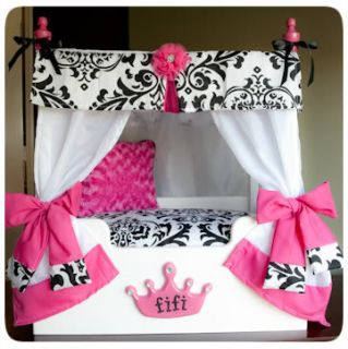 Pink Canopy Bedding Princess Dog Bed Canopy Bed Girls Furniture Small