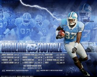 Carolina TarHeel Football 2008 schedule wallpaper desktop background