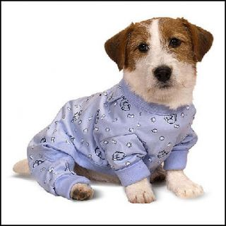 Sweet Dreams K 9 Dog Pajamas Blue Size Medium 14 16
