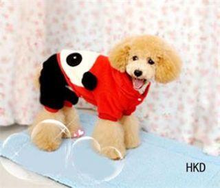 Panda Shirt Hoodie Tee Small Dog Pet Clothes Apparel XS s M L