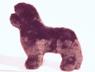 brown plush newfoundland dog toy for your dog
