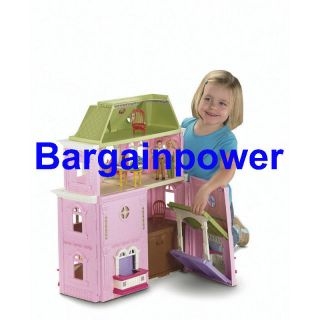 New Fisher Price Loving Family Grand Dollhouse 8 Room Doll House Folds