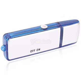 New Mini 4GB USB 2 0 Digital Voice Recorder Flash Drive Silver Disk