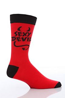 Mens 1 Pair Sockshop Valentines Sexy Devil Socks