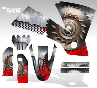 2004 2009 Honda CRF 250R Graphics Kit Decal Sticker The Saw Flag Deco