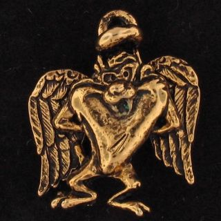 Charm Taz Tazmanian Devil Looney Tunes Gold Angel 5258