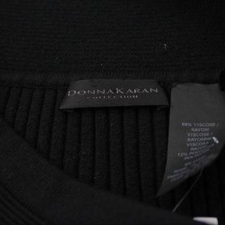 Donna Karan Collection Black Knit Pleated Skirt Sz S