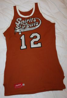 Vtg 74 ABA St. Louis Game Worn 12 Don Chaney Throwback Basketball