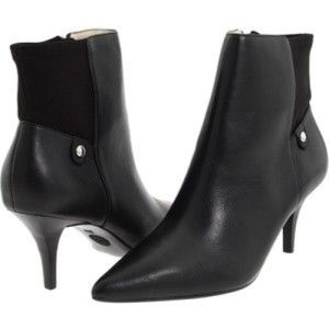 Womens Shoes Michael Kors Bromley Bootie Ankle Boots Pointy Toe Black