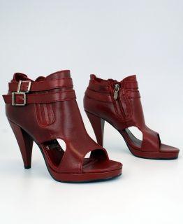 HARLEY DAVIDSON JERRI RED LEATHER LIGHTWEIGHT WOMENS PLATFORM SANDALS