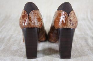 Donald J Pliner Casey Pump Brown Textured Leather Shoes Size 6 5 $