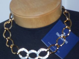 Auth Swarovski Crystal Necklace Donatella Collar New Tag Blue Box
