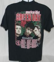 Green Day American Idiot Tour 2005 T Shirt Large Black Heart Grenade