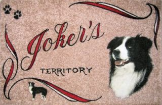 border collie dog mat personalized pets