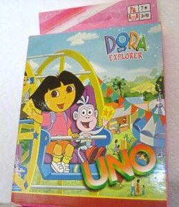 dora the explorer classic uno family card game new