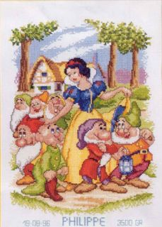Cross Stitch Kits Disney Snow White and Seven Dwarfs