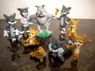 RARE Tom Jerry Christmas Ornament Collection Large Ornaments Set Cat