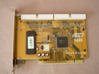 ABIT HA66 Ultra ATA 66 Disk Controller Card Dual 2 IDE Channel PCI