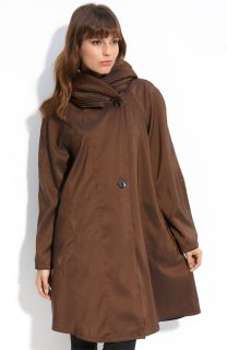 Mycra Pac Donatella Brown Scrunch Neck Reversible Travel Coat Size 1 s