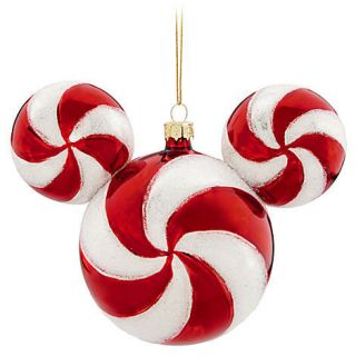 Disney Mickey Mouse Icon Peppermint Candy Christmas Holiday Ornament